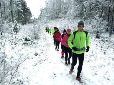 Laufen im Teutoburger Wald - besonders schön im Schnee