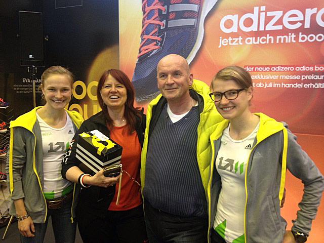 Treffen mit den Lauf-Zwillingen Anna und Lisa Hahner